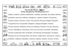 Übungen verwandte Wörter - Rechtschreibung - Deutsch Klasse 3 ...