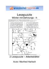 arbeitsblatt in der grundschule dehnungs h rechtschreibung deutsch klasse 3. Black Bedroom Furniture Sets. Home Design Ideas