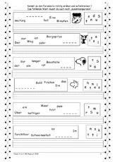 arbeitsblatt in der grundschule rechtschreibung deutsch klasse 3. Black Bedroom Furniture Sets. Home Design Ideas