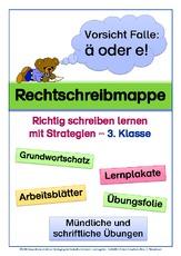 Ableitungen-Wörter mit ä, Kl. 4 - Rechtschreibstrategien ...