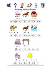 Rebus-Rätsel (Arbeitsblatt) in der Grundschule - Wörterrätsel ...