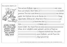 Adjektiv (Arbeitsblatt) in der Grundschule - Texte bearbeiten ...