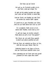 Nacherzählung In Der Grundschule Fabeln Deutsch Klasse 4