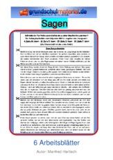 Arbeitsblatt In Der Grundschule Sagen Lesegenauigkeit