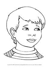 Ausmalbilder Portraits Personen Beschreibungen Deutsch Klasse 4