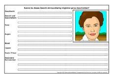Personen (Arbeitsblatt) in der Grundschule - Deutsch Klasse 4 ...
