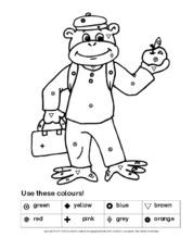 Farben Arbeitsblatt In Der Grundschule Englisch