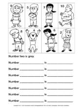 Numbers Arbeitsblatt In Der Grundschule Englisch
