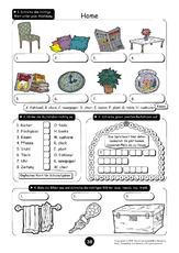 08 s tze at home 4 erste englische s tze arbeitsbl tter englisch klasse 3. Black Bedroom Furniture Sets. Home Design Ideas
