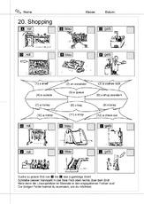 einkaufen in der grundschule erste englische w rter arbeitsbl tter englisch klasse 3. Black Bedroom Furniture Sets. Home Design Ideas