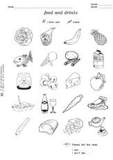 Essen In Der Grundschule Arbeitsblätter Englisch Klasse 3