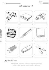 at school arbeitsblatt in der grundschule englisch unterrichtsmaterial. Black Bedroom Furniture Sets. Home Design Ideas