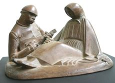 Porzellanfigur Russisches Liebespaar von Ernst Barlach