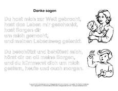 Danke Sagen In Der Grundschule Gedichte Muttertag