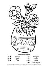 Ostern In Der Grundschule Malen Nach Zahlen Ostern