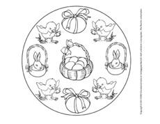 Arbeitsblatt In Der Grundschule Oster Mandala Ostern Feste Und