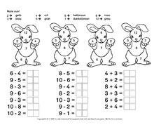 Ostereier In Der Grundschule Rechnen Und Malen Ostern Feste