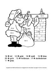 Rechnen und malen in der Grundschule   Weihnachtsrechnen