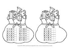 Weihnachtsrechnen - Arbeitsblätter - Weihnachten - Feste und ...