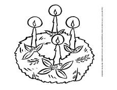 Ausmalbild Adventskranz 10 Adventszeit Ausmalbilder