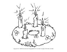 Arbeitsblatt In Der Grundschule Adventszeit Ausmalbilder