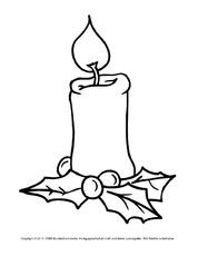 Snap Kostenlose Malvorlage Weihnachten Einzelne Kerze Zum Ausmalen