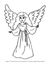 Engel ausmalbilder weihnachten feste und feiertage for Raumgestaltung engel
