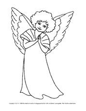 Ausmalbild Engel In Der Grundschule Ausmalbilder Weihnachten