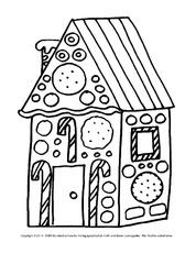 ausmalbild lebkuchen arbeitsblatt f r freiarbeit in der. Black Bedroom Furniture Sets. Home Design Ideas