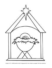 Ausmalbild Krippe In Der Grundschule Ausmalbilder Weihnachten