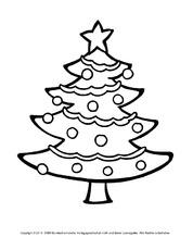 Ausmalbild Weihnachtsbaum In Der Grundschule Weihnachten