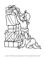 ausmalbilder - weihnachten - feste und feiertage - hus