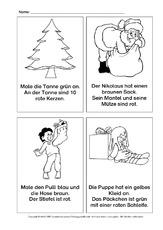 Lese-Mal-Blätter - Weihnachten - Feste und Feiertage - HuS Klasse 1 ...