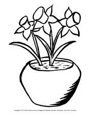 Osterglocke In Der Grundschule Ausmalbilder Blumen Frühling