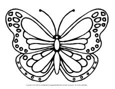 Frühling in der Grundschule   Ausmalbilder Schmetterling