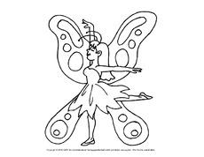 Ausmalbild Schmetterling In Der Grundschule Ausmalbilder