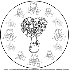 Mandala Blumen Mandalas Frühling Jahreszeiten Hus Klasse 1