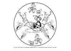Mandala Tiere Mandalas Frühling Jahreszeiten Hus Klasse 1