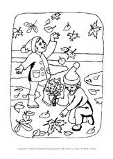 Ausmalbild Herbst Arbeitsblatt In Der Grundschule Ausmalbilder