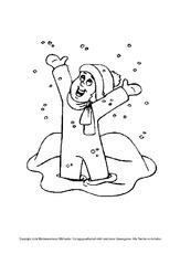 Schneemann In Der Grundschule Ausmalbilder Winter Jahreszeiten