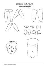 Arbeitsblätter - Menschlicher-Körper - HuS Klasse 1 ...