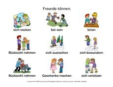 Arbeitsblatt in der Grundschule - Freundschaft - Gefühle - Themen ...