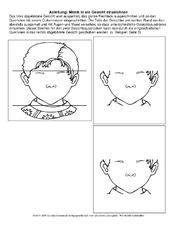 Bastelvorlage in der Grundschule - Gefühle und Mimik - Gefühle ...