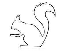 Bastelvorlage Eichhörnchen In Der Grundschule Schablonen