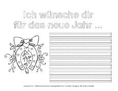 Arbeitsblatt in der Grundschule - Silvester-Neujahr - Feste und ...