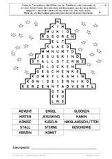 Rätsel Weihnachten Erwachsene.Rätsel In Der Grundschule Adventswörter Arbeitsblätter