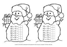 weihnachtsrechnen arbeitsbl tter weihnachten feste und feiertage hus klasse 2. Black Bedroom Furniture Sets. Home Design Ideas