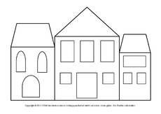 fensterbild bastelvorlage in der grundschule hus. Black Bedroom Furniture Sets. Home Design Ideas