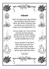 Adventszeit In Der Grundschule Gedichte Im Schmuckrahmen