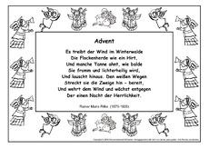 Arbeitsblatt In Der Grundschule Weihnachts Gedichte